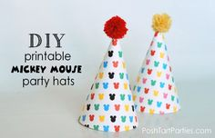 Printable Mickey Mouse party Hat
