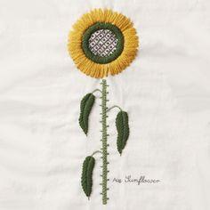 August Sunflower - DMC embroidery kit Seasonal Plants (designer Yumiko Higuchi)