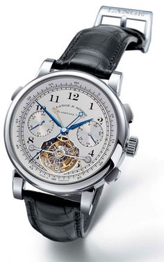 "Lange & Söhne Limited Edition Tourbograph ""Pour le Merite"" With Tourbillon And Fusee Chain Available On JamesList Fine Watches, Cool Watches, Watches For Men, Patek Philippe, Stylish Watches, Luxury Watches, Best Kids Watches, Gentleman Watch, Herren Chronograph"