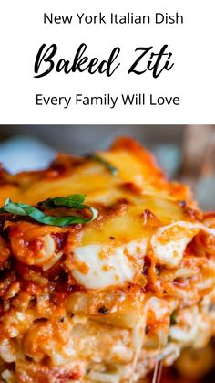 This is a hearty Italian pasta dish your whole family will love. This quick and easy Baked Ziti dish: ground beef,ricotta. Large Family Meals, Easy Family Dinners, Large Families, Easy Dinners, Easy Baked Ziti, Italian Pasta Dishes, Yummy Pasta Recipes, Casserole Recipes, Warm Food