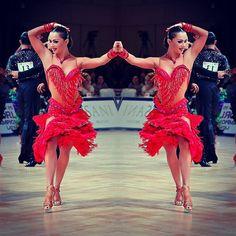 Flirty red fringe Latin dress, side cut-outs in mesh -- #abrahammartinez #newdress #latin #cristalfringes #red #forever @zaitsev0906 @anna2185 @zaitsev_kuzminskaya