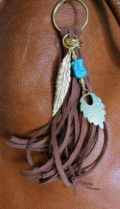 Design your own photo charms compatible with your pandora bracelets. ~ This handmade tassel charm can be used on your purse, backpack, zipper, wherever youd like to add some charm! Its made up of brown suede, Tassel Jewelry, Leather Jewelry, Leather Craft, Charm Jewelry, Jewelry Crafts, Beaded Jewelry, Handmade Jewelry, Jewellery, Diy Keychain