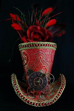 Queen of Hearts Crown Burlesque Mini Crown by Wickedheart