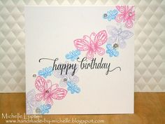 Handmade by Michelle: Clean and simple butterflies