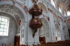 Lucerne - Jesuit Church Pulpit & West Aisle Jesuitenplatz