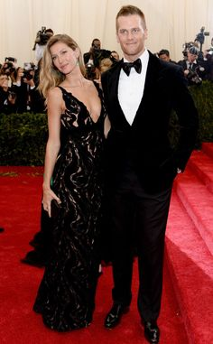 Gisele Bundchen & Tom Brady from 2014 Met Gala Arrivals  The power couple stick together at the Met Gala.