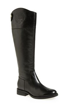 Free shipping and returns on Vince Camuto 'Fabina' Knee High Boot (Women) at Nordstrom.com. An embossed logo lends understated elegance to a knee-high boot in rich mixed-finish leathers.