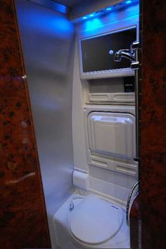Attractive Small RV Bathroom & Toilet Remodel Ideas - Page 63 of 80 Kombi Motorhome, Camper Trailers, Camper Van, Truck Camper, Camper Parts, Rv Trailer, Trailer Remodel, Camper Bathroom, Compact Bathroom