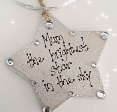 Personalised The Brightest Star In The Sky Bereavement Keepsake, Wooden Hearts Crafts, Heart Crafts, Diy Home Crafts, Creative Crafts, Crafts To Make, Homemade Gifts, Diy Gifts, Craft Presents, Bereavement Gift