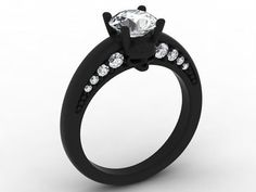 Skull Engagement Ring in 10 k