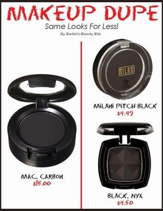Boycott MAC , instead buy Cruelty FREE dupes Milani Pitch Black Eyeshadow and NYX Matte Black Eyeshadow for MAC Carbon -I think MAC is WAYYY overrated anyway- I don't think the quality is there and the ingredient list leaves something to be desired.-Souhaila