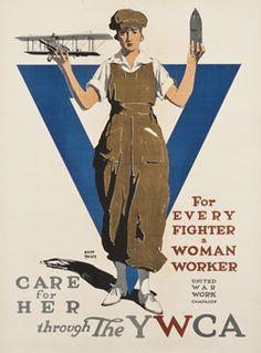 Adolf Treidler poster: Care for her through the YWCA