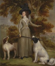 The Countess of Effingham with Gun and Shooting Dogs by George Haugh, 1787