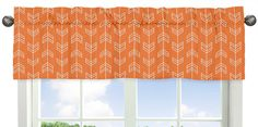 Liven up your child's bedroom with the fun Sweet Jojo Designs Arrow Crib Bedding Collection. In a stylish and fun arrow print in white on orange, this Window Valance adds chic style and a finishing touch to a room. Boys Curtains, Valance Curtains, Window Valances, Shower Curtains, Orange Bedding, White Bedding, Bedding Sets, Kids Window Treatments, Arrow Decor