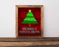 Christmas Wall Art Have Yourself A Merry Little Christmas Printable Artwork, Typography Print, DIGITAL DOWNLOAD ART by ArtzyPrints on Etsy
