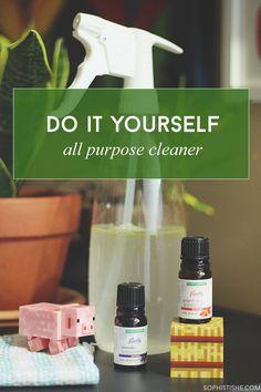 DIY All Purpose Cleaner With Essential Oils via @sheenatatum