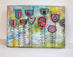 Flower Canvas - Keilrahmen mit Blömsche