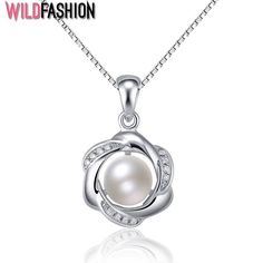 Cheap necklace mobile, Buy Quality necklace spike directly from China necklace hollywood Suppliers: Flower Simulated Pearl 925 Sterling Silver Necklaces & Pendants Cubic Zirconia Women Silver Pendant Necklace (JewelOra Fashion Jewelry Necklaces, Pearl Jewelry, Fashion Necklace, Women Jewelry, Silver Jewelry, Jewellery, Pearl Pendant Necklace, Sterling Silver Necklaces, Argent Sterling