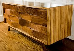 Handcrafted Desert chest of drawers.