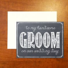 Chalkboard Wedding Day Cards  Bride and Groom by BonnieAndMason