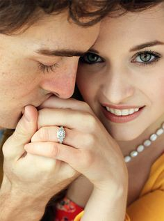 Beautiful ring couple engagement photography