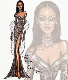 Hayden Williams Fashion Illustrations: Happy Birthday Rihanna!