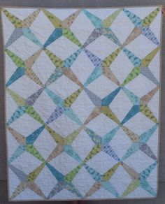 Dresden Ruler Quilt - made with the EZ dresden ruler and those annoying flyers from the mail you throw away