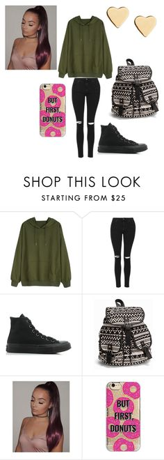 """""""Good night y'all!!!!"""" by lvcph ❤ liked on Polyvore featuring Topshop, Converse, NLY Accessories, Agent 18 and Lipsy"""