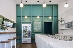 Piccolina Gelateria by Hecker Guthrie Local Interior Design Melbourne is part of architecture - The brand new Piccolina Gelateria is a commerical hospitality interior design project located in the beach side suburb of St Kilda by Hecker Guthrie Cafe Interior Design, Cafe Design, Store Design, Interior Architecture, Residential Architecture, Commercial Design, Commercial Interiors, Cafe Restaurant, Restaurant Design