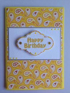 Yellow Happy Birthday Card
