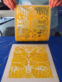 Art...: Rubbing Plates, Flip-Flops and Stencils