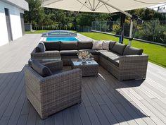 Modulová ratanová zostava SEVILLA (sivá) - vlastná zostava | Zahradný nábytok Outdoor Sectional, Sectional Sofa, Outdoor Furniture Sets, Outdoor Decor, Home Decor, Sevilla, Modular Sofa, Decoration Home, Corner Sofa