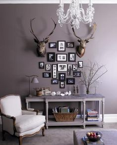 Greyish Purple Paint Wall Warm Grey Colors