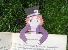 Bookmark buddy - Mad Hatter. £2.00, via Etsy.