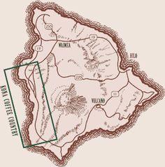 Driving Tour Map of Kona coffee farms