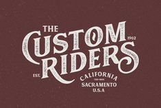Vintage Custom Riders classic font for retro/hipster look. #ad #fonts