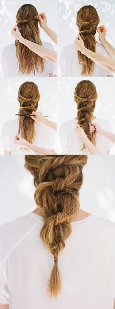 DIY knotted ponytail