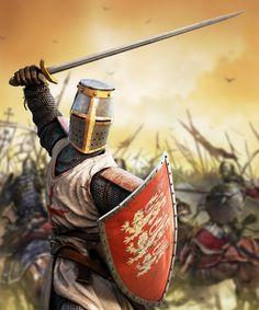 Templar knight in melee combat