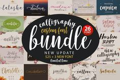 Font Bundle Caligraphy  by Genesis Lab on @creativemarket