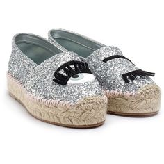 3bbb1836e8c8 Chiara Ferragni Flirting Glitter Espadrilles (€145) ❤ liked on Polyvore  featuring shoes