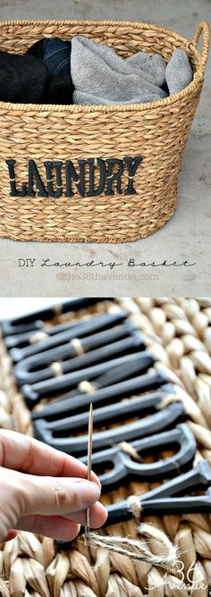 DIY Laundry Basket Tutorial. Make an everyday household item look great! Make your laundry basket a part of your home decor.