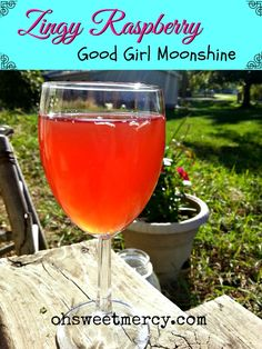 Zingy Raspberry Good Girl Moonshine! Here's what I did: 2 tea bags, 2 tbls acv (will increase as I get used to it), 4 drops ginger and 4 drops lime Young Living essential oils, 4 doonks thm stevia per 1 quart mason jar. Make 2 at a time using same tea bags.  Yummy!  ~cv