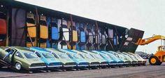1971 Chevy Vega: Loading onto a train