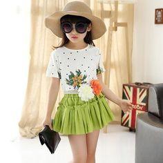 t-shirt + tutu skirt set