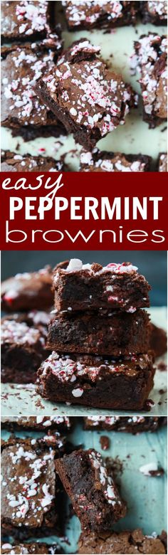 The BEST Peppermint Brownies made from scratch with a secret ingredient to make them extra fudgy then topped with crushed candy canes for the perfect holiday finishing touch!