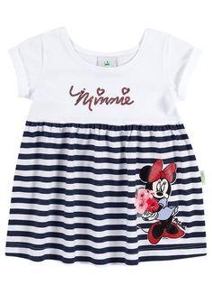Vestidos Minnie com detalhes em lantejoula e glitter, por R$ 38,90!  Linha Baby - Tamanhos P, M e G