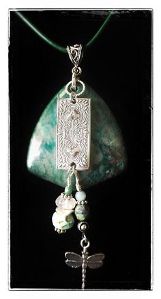 Fine silver pendant (99.9) - with sterling silver (92.5) chain and accents, pearls, semi-precious gems and Czech crystals - hand made by Cilette Swann of Espiritu Fine Art. Email: cece at gypsysoul dot com for stores, custom orders and pricing etc. c) 2012-2015 Espiritu Fine Art