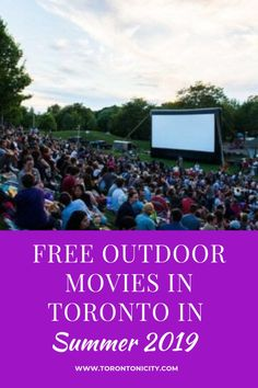 Free Outdoor Movies in Toronto in Summer 2019 #free #outdoor #movies #films #summer #Toronto #2019