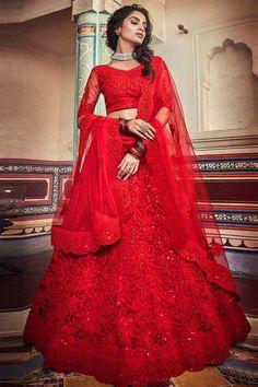 Lehenga Choli Latest, Lehenga Choli Designs, Red Lehenga, Party Wear Lehenga, Bridal Lehenga Choli, Indian Lehenga, Choli Dress, Ghagra Choli, Punjabi Lehenga