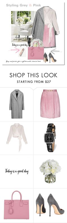 """""""Pink and Grey"""" by elena-777s ❤ liked on Polyvore featuring rag & bone, Pierre Balmain, Charles Hubert, Yves Saint Laurent, Gianvito Rossi, Burberry, Pink, pinkandgrey, 2017 and springsummer2017"""